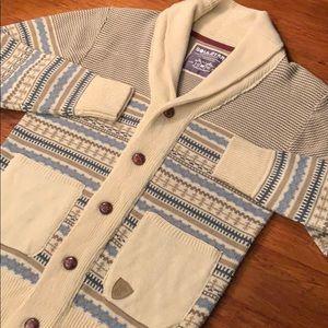 SOUL STAR Cowl Neck Button Up Cardigan